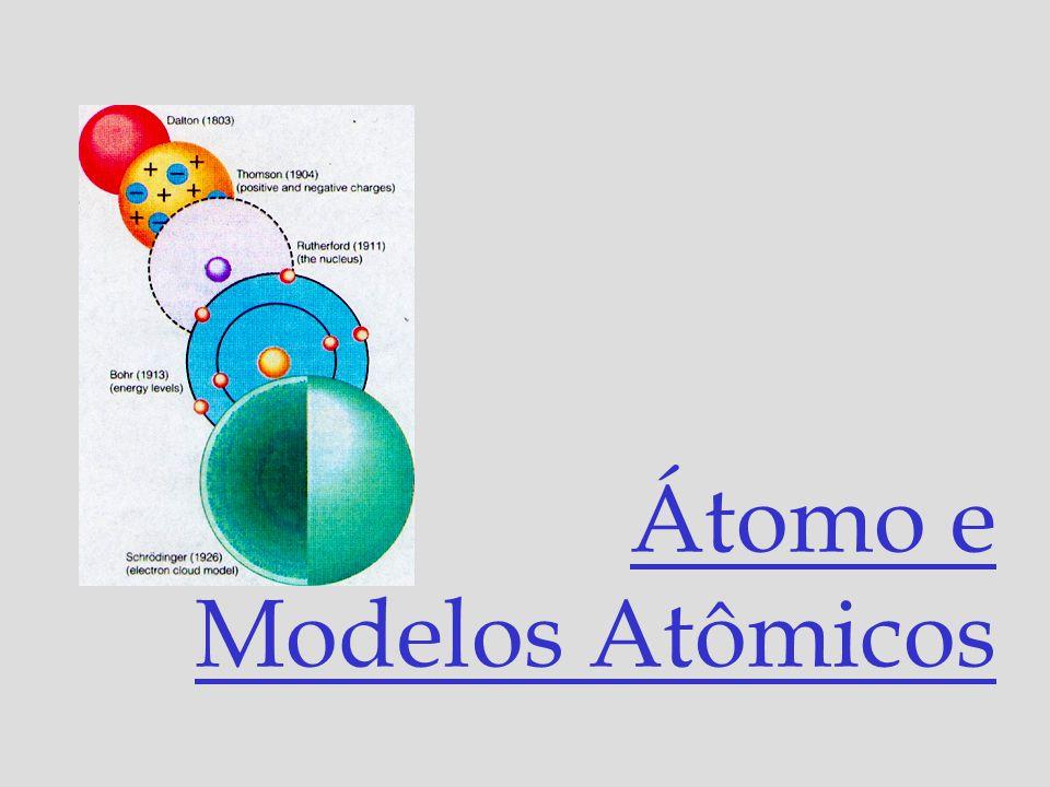 Átomo e Modelos Atômicos
