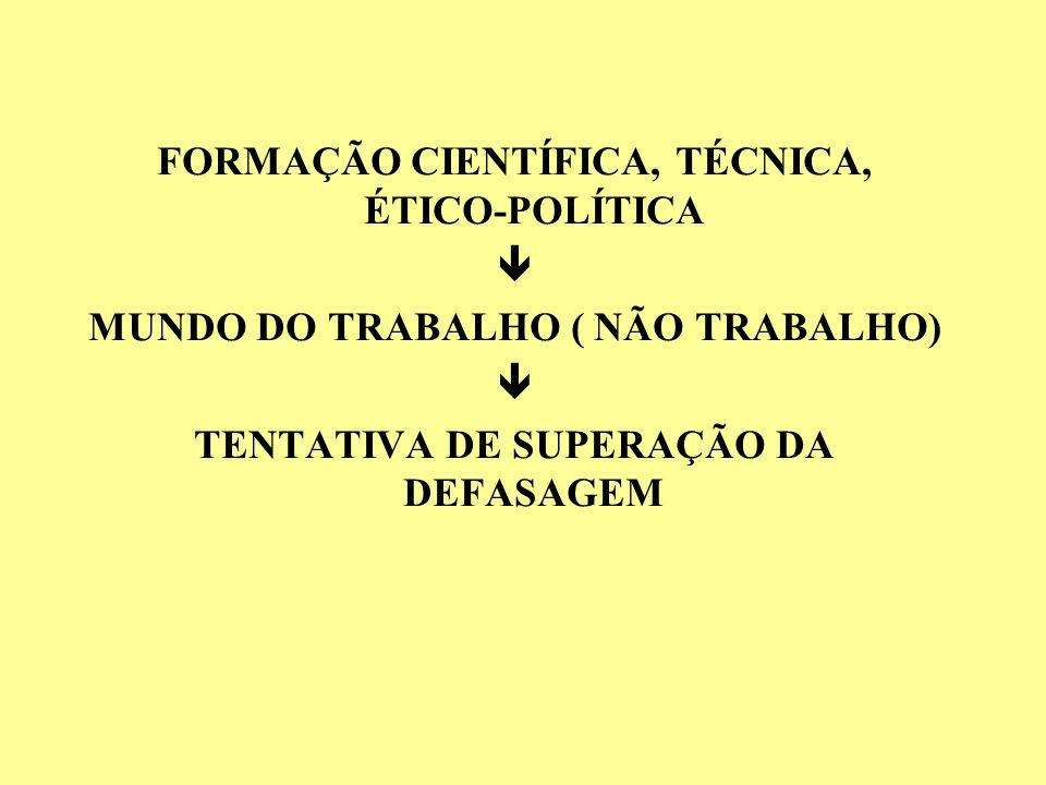 FORMAÇÃO CIENTÍFICA, TÉCNICA, ÉTICO-POLÍTICA 