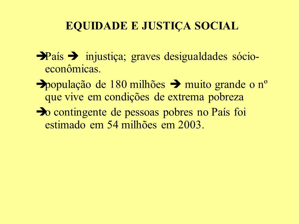 EQUIDADE E JUSTIÇA SOCIAL