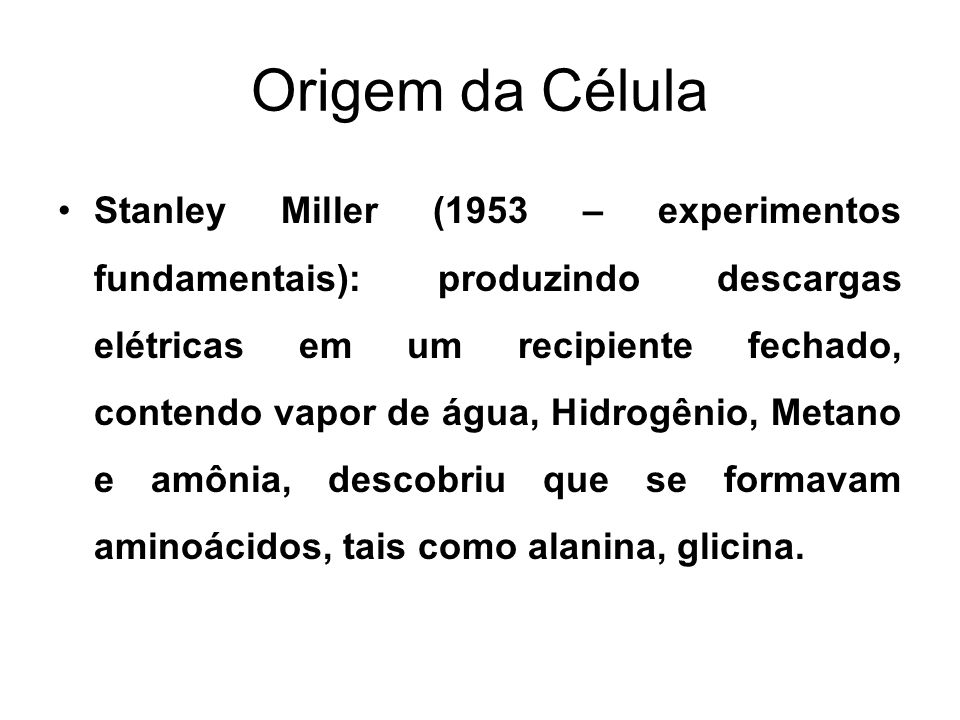 Origem da Célula