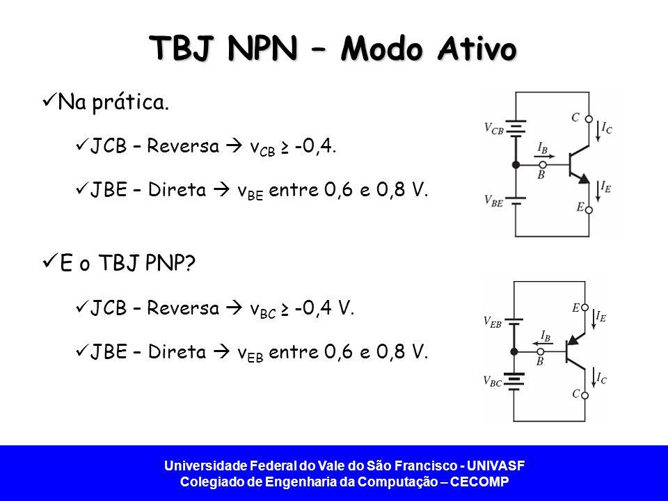 TBJ NPN – Modo Ativo E o TBJ PNP Na prática.
