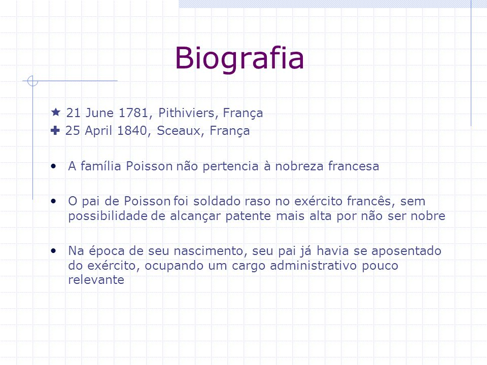 Biografia  21 June 1781, Pithiviers, França