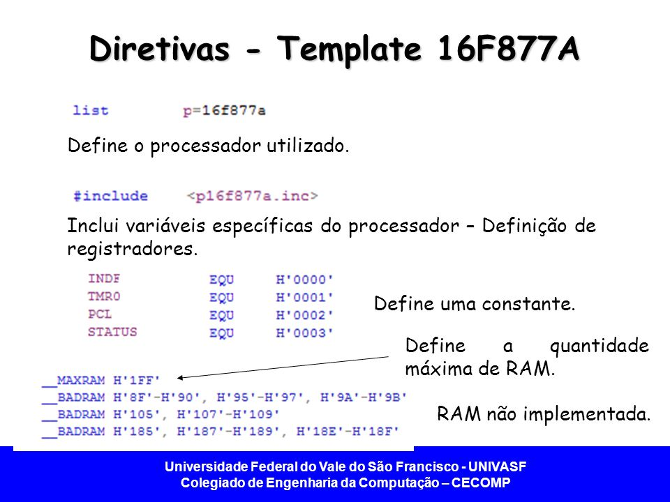 Diretivas - Template 16F877A
