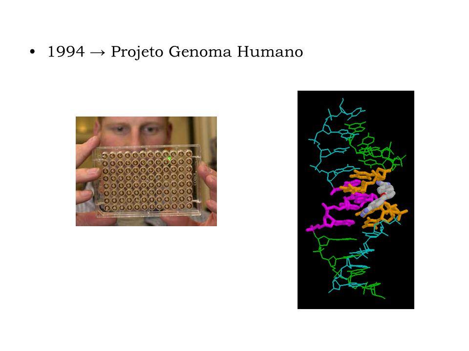 1994 → Projeto Genoma Humano