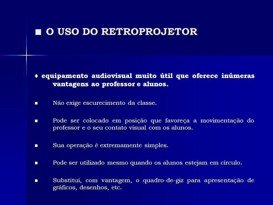 ■ O USO DO RETROPROJETOR