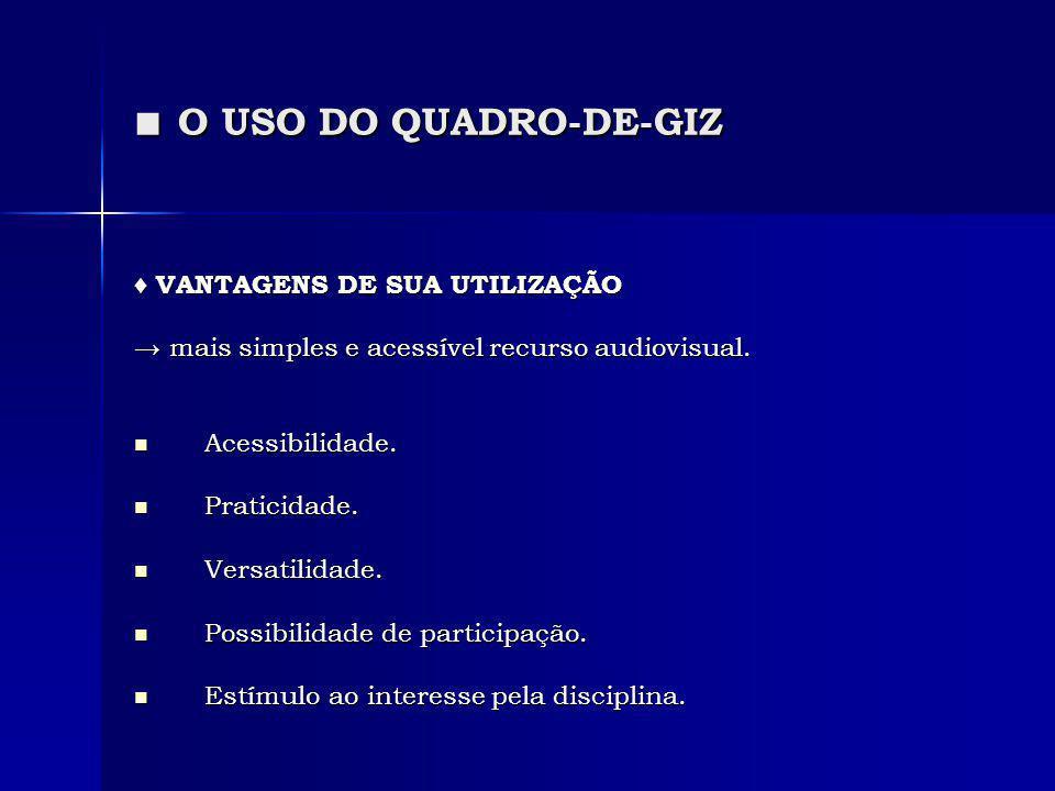 ■ O USO DO QUADRO-DE-GIZ