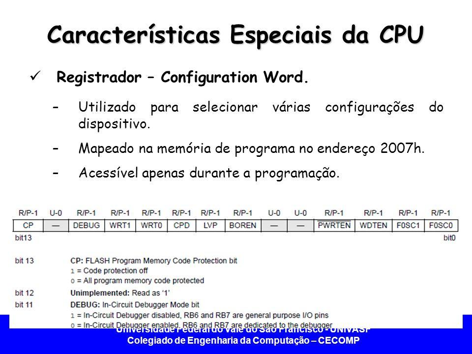 Características Especiais da CPU
