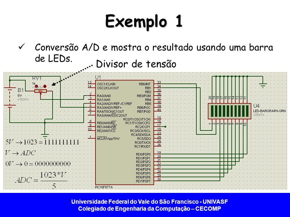 Exemplo 1 Divisor de tensão