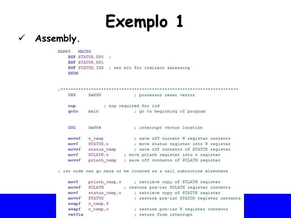 Exemplo 1 Assembly.