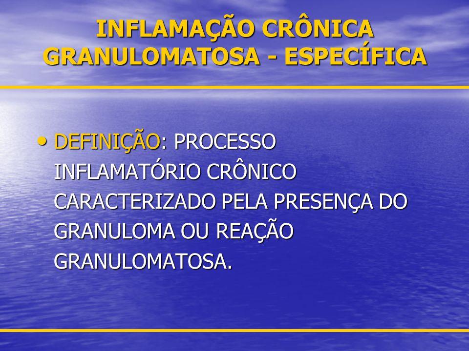 INFLAMAÇÃO CRÔNICA GRANULOMATOSA - ESPECÍFICA