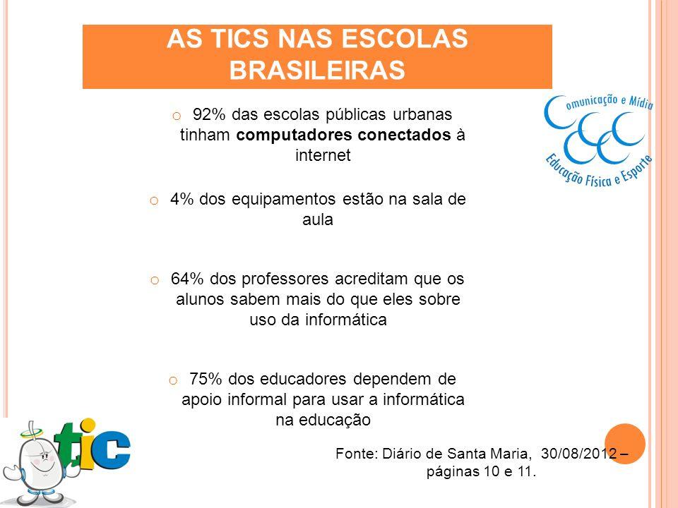 AS TICS NAS ESCOLAS BRASILEIRAS