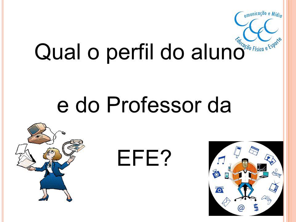 Qual o perfil do aluno e do Professor da EFE