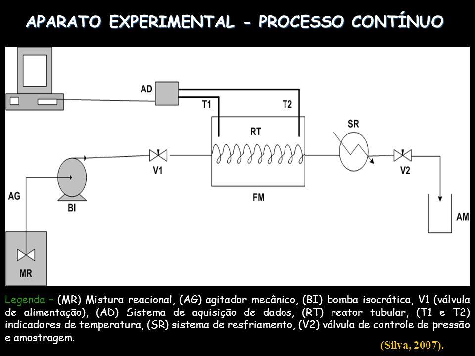 APARATO EXPERIMENTAL - PROCESSO CONTÍNUO