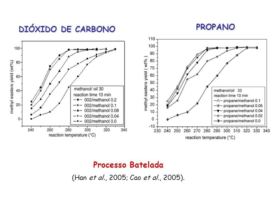 PROPANO DIÓXIDO DE CARBONO Processo Batelada