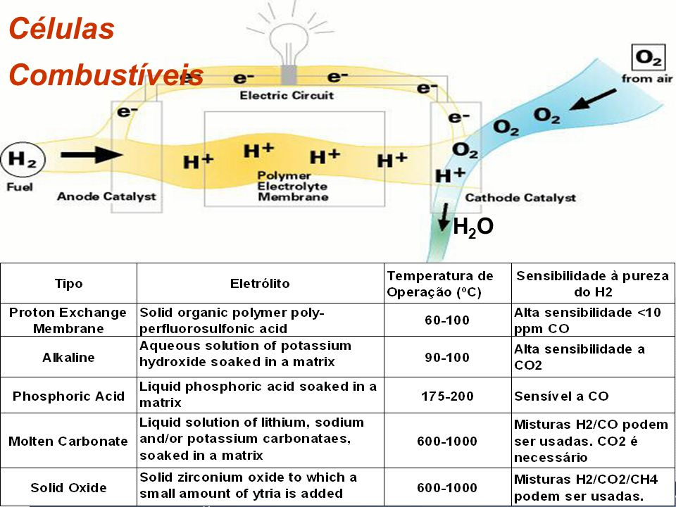 Células Combustíveis H2O