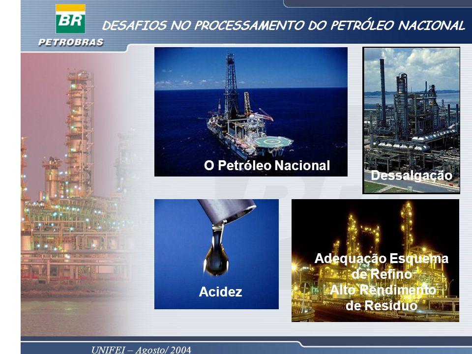 O Petróleo Nacional Dessalgação Adequação Esquema de Refino