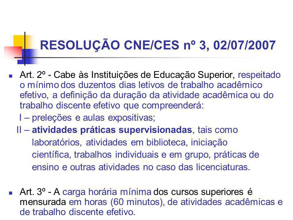 RESOLUÇÃO CNE/CES nº 3, 02/07/2007
