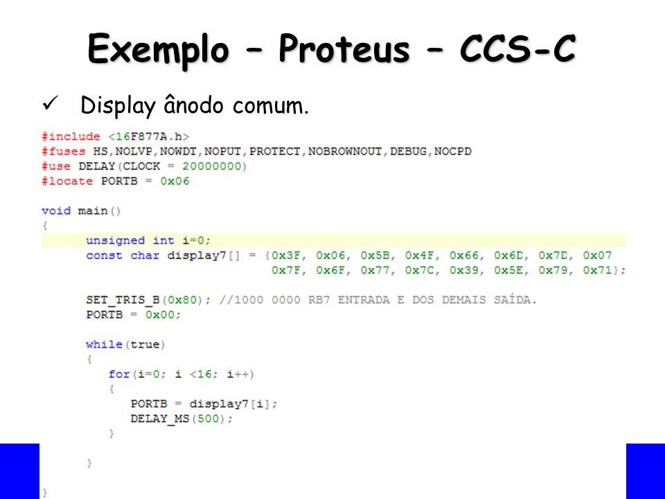 Exemplo – Proteus – CCS-C