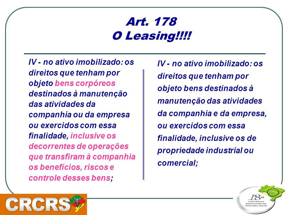 Art. 178 O Leasing!!!!