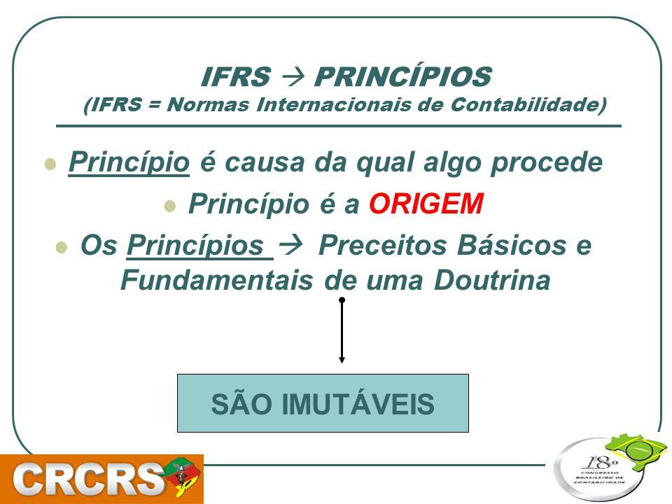 IFRS  PRINCÍPIOS (IFRS = Normas Internacionais de Contabilidade)