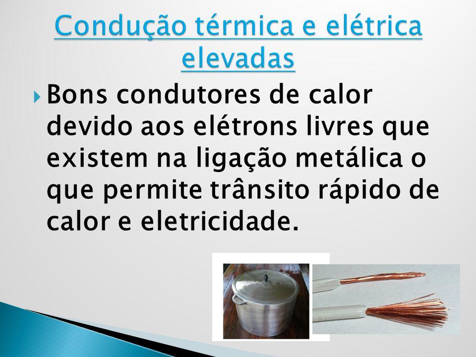 Condução térmica e elétrica elevadas