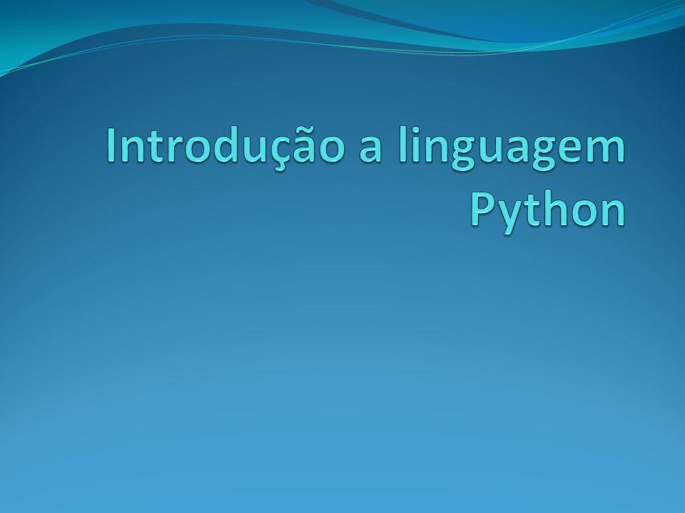 Introdução a linguagem Python