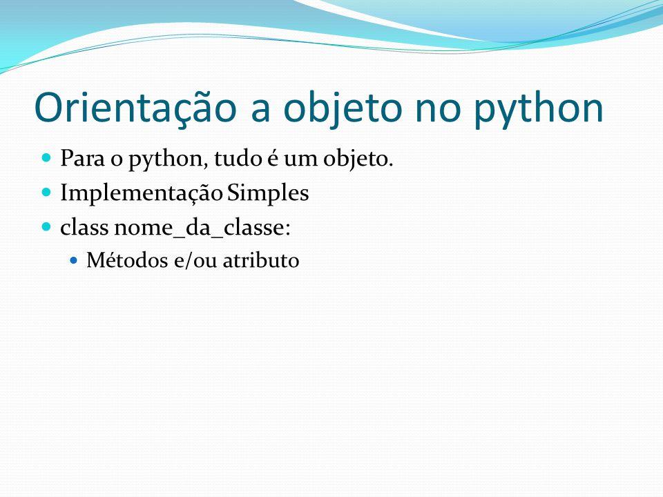 Orientação a objeto no python