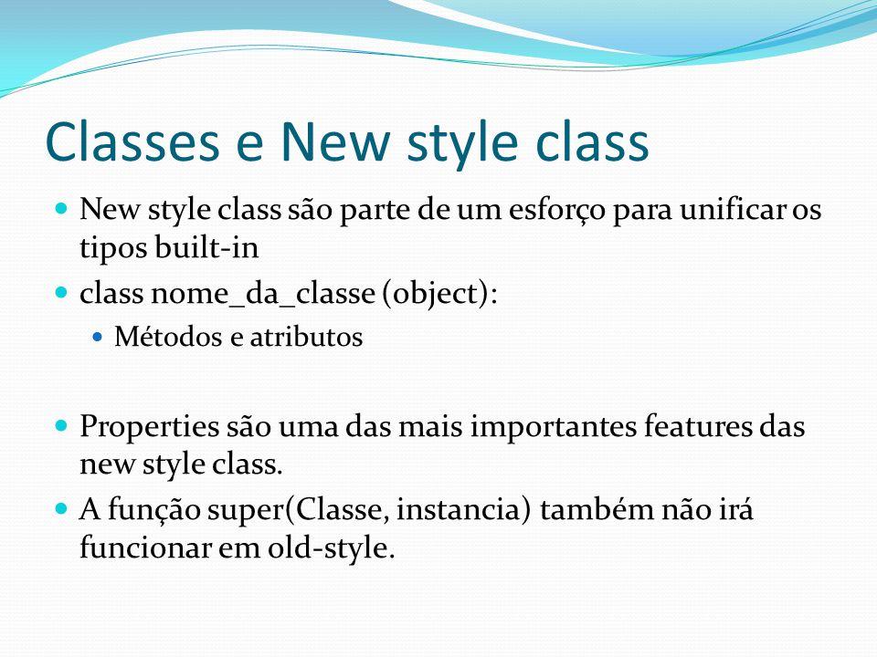 Classes e New style class