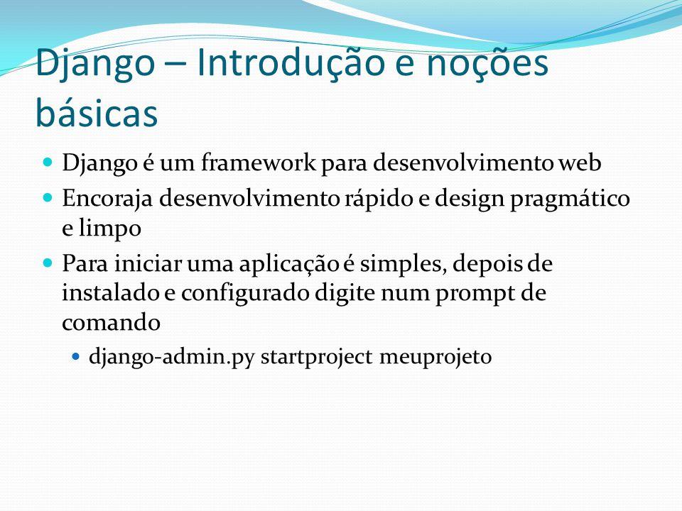 Django – Introdução e noções básicas