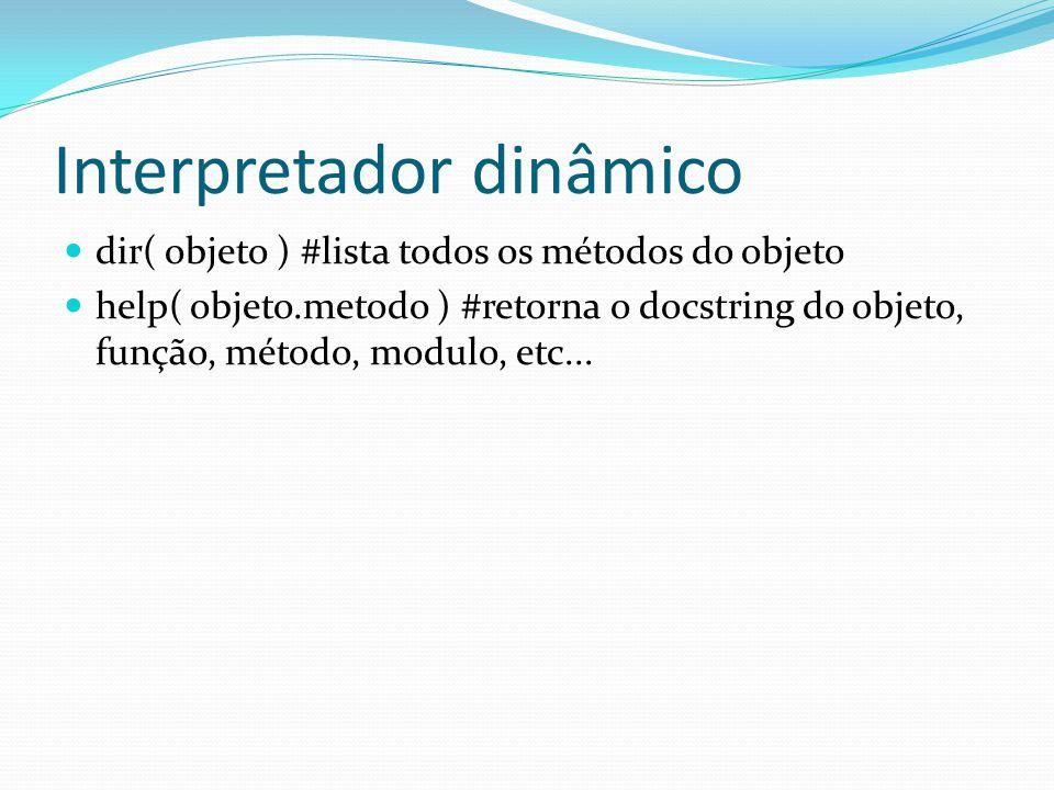Interpretador dinâmico