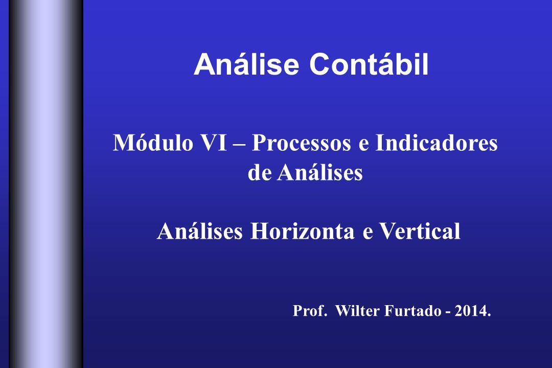 Módulo VI – Processos e Indicadores Análises Horizonta e Vertical