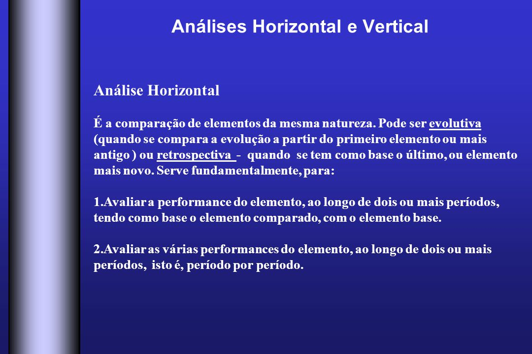 Análises Horizontal e Vertical