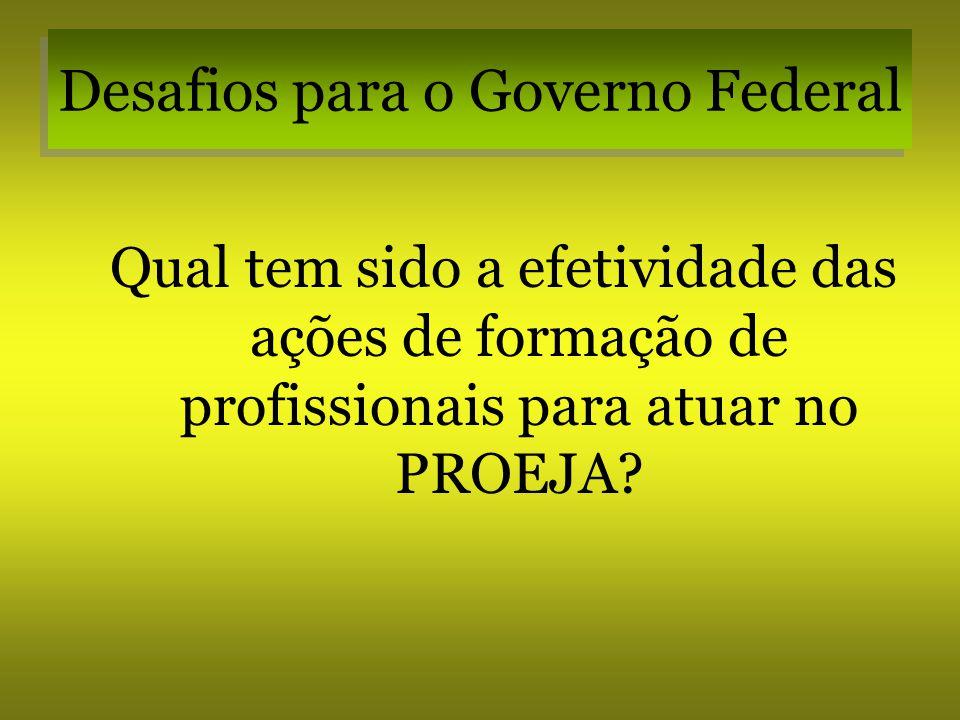 Desafios para o Governo Federal