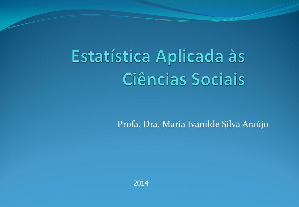 Estatística Aplicada às Ciências Sociais