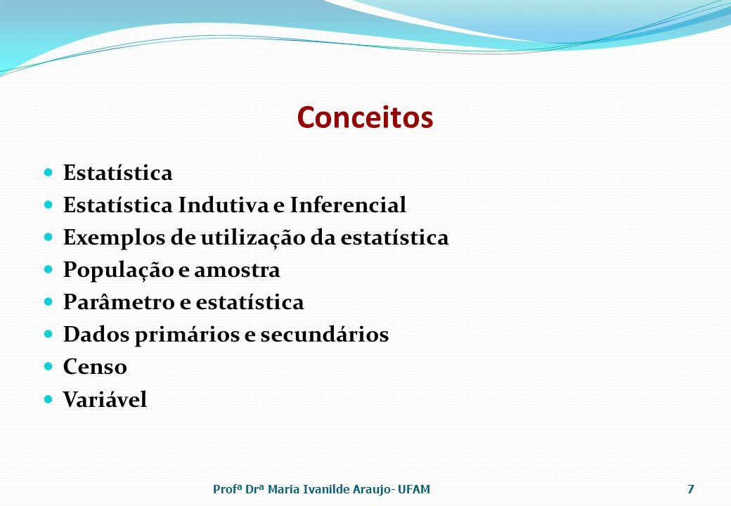 Conceitos Estatística Estatística Indutiva e Inferencial