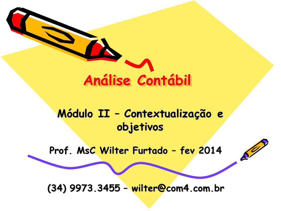 Prof. MsC Wilter Furtado – fev 2014