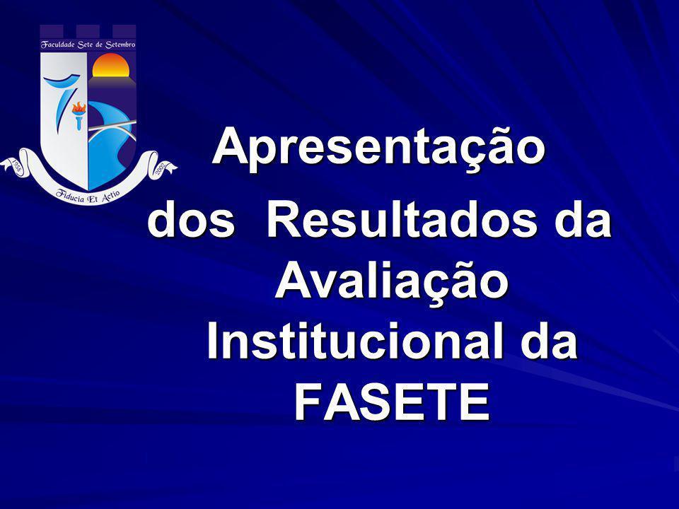 dos Resultados da Avaliação Institucional da FASETE