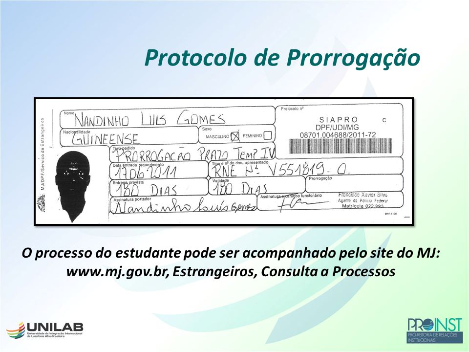 Protocolo de Prorrogação