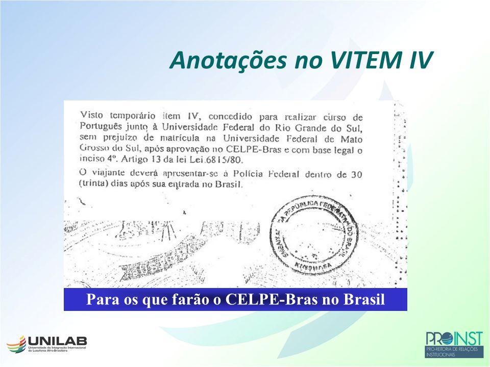 Para os que farão o CELPE-Bras no Brasil