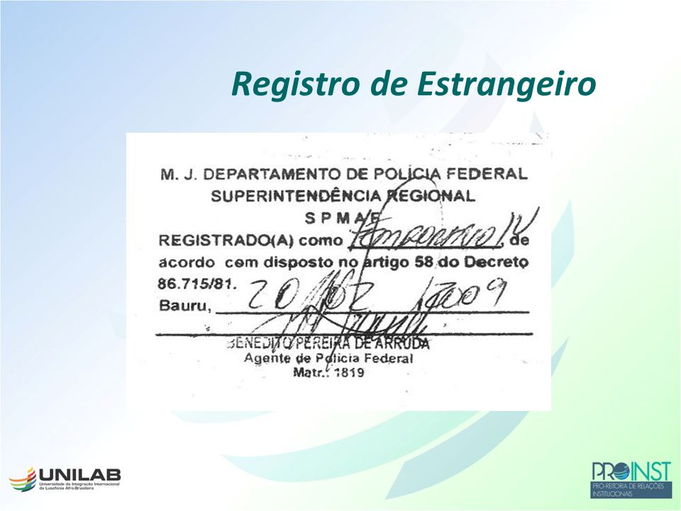 Registro de Estrangeiro