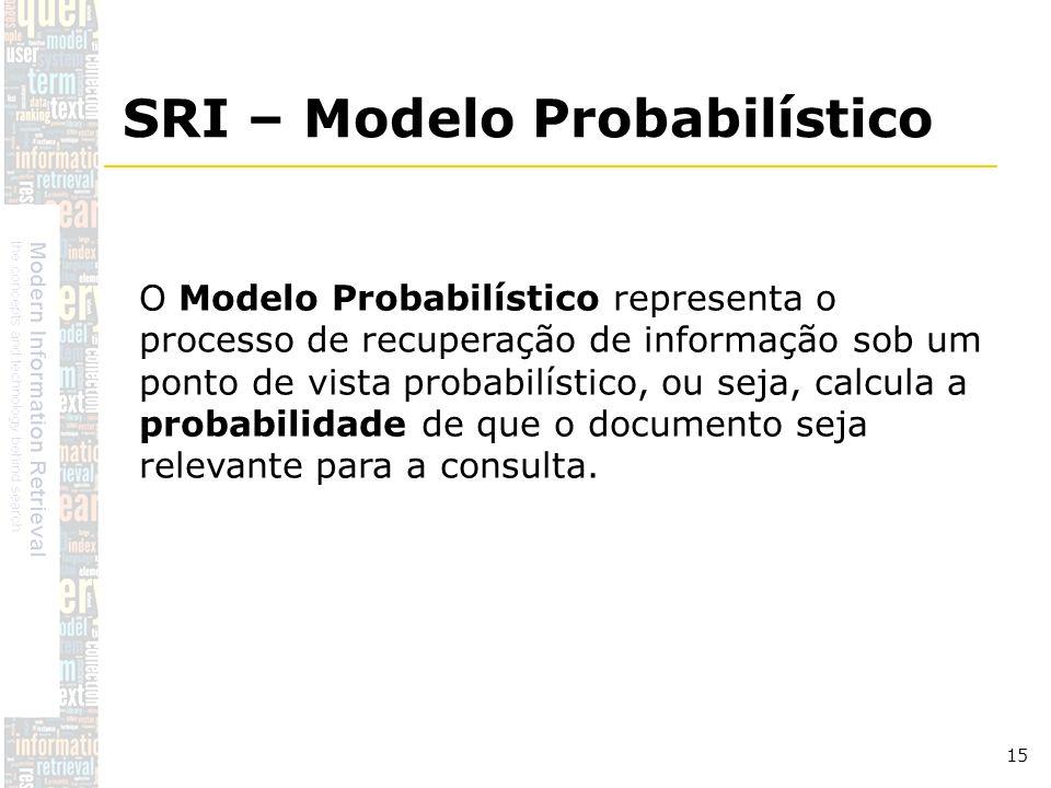 SRI – Modelo Probabilístico
