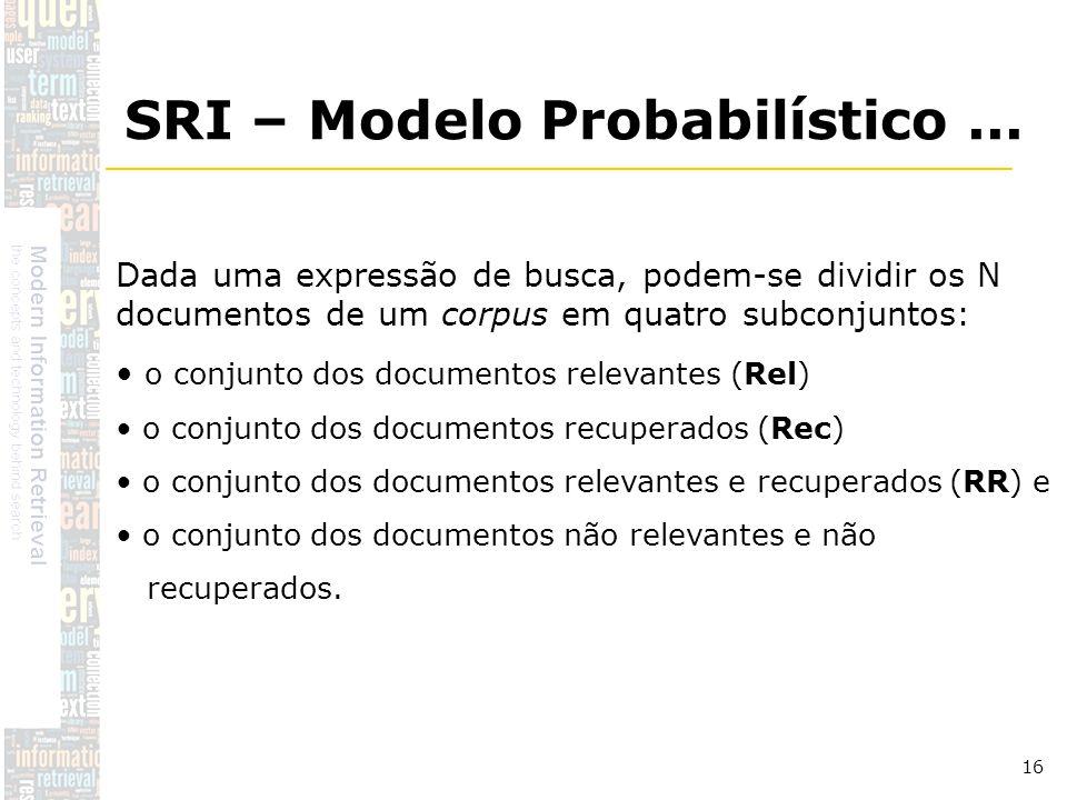 SRI – Modelo Probabilístico ...