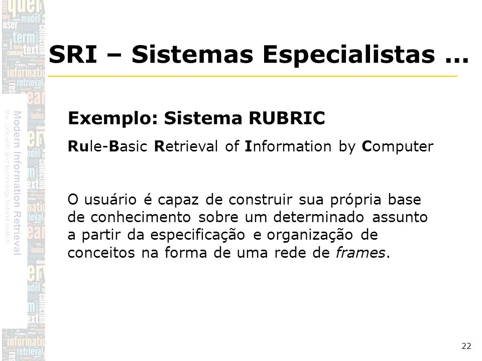 SRI – Sistemas Especialistas ...