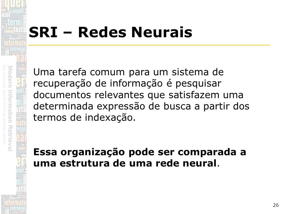 SRI – Redes Neurais