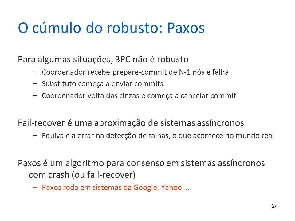 O cúmulo do robusto: Paxos