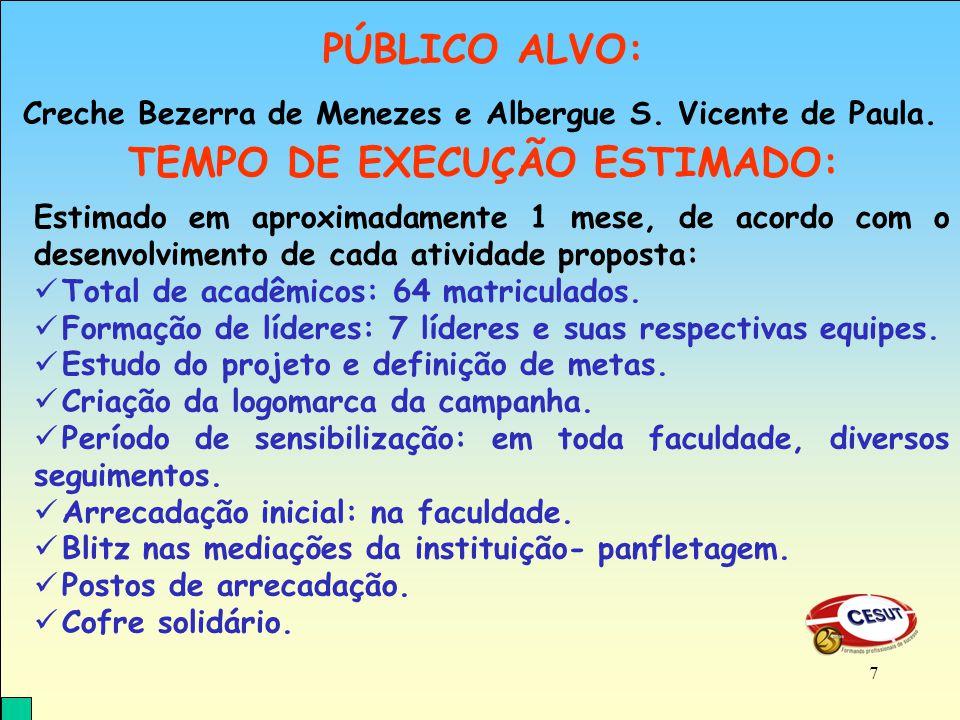 Creche Bezerra de Menezes e Albergue S. Vicente de Paula.