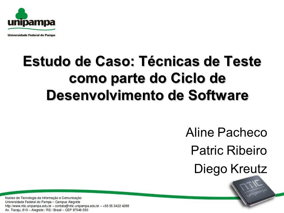 Estudo de Caso: Técnicas de Teste como parte do Ciclo de Desenvolvimento de Software