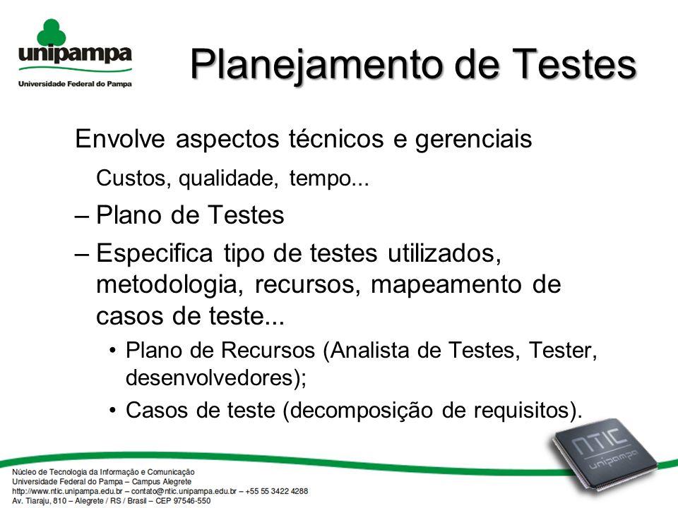 Planejamento de Testes