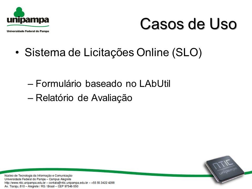 Casos de Uso Sistema de Licitações Online (SLO)