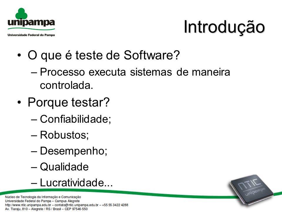 Introdução O que é teste de Software Porque testar